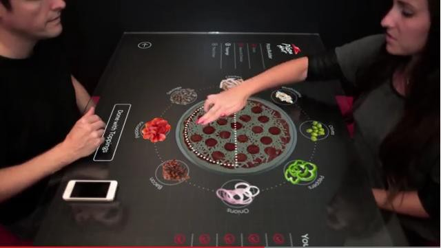 table tactile Pizza Hut